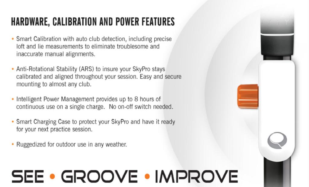 SkyPro Golf Swing Analyzer Features